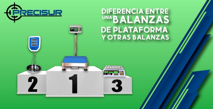 Diferencias entre una balanza de plataforma y otras balanzas