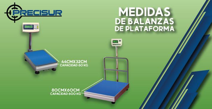 Medidas de las balanzas de plataforma